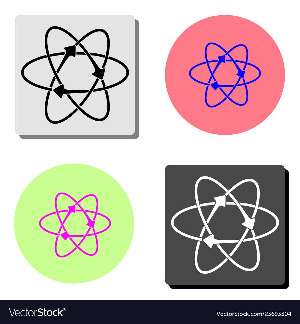 Atom flat icon