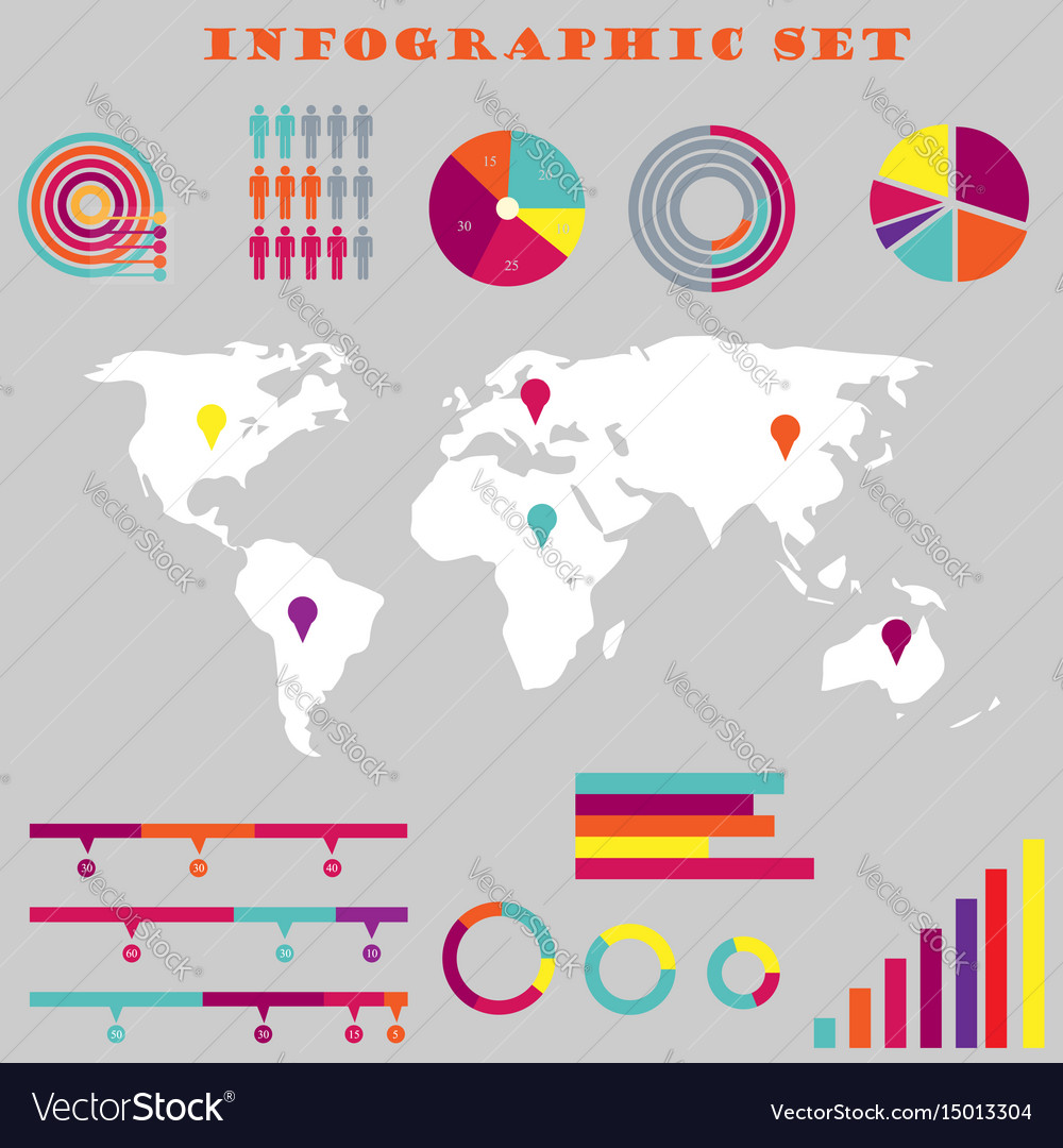 Colorful infographic set