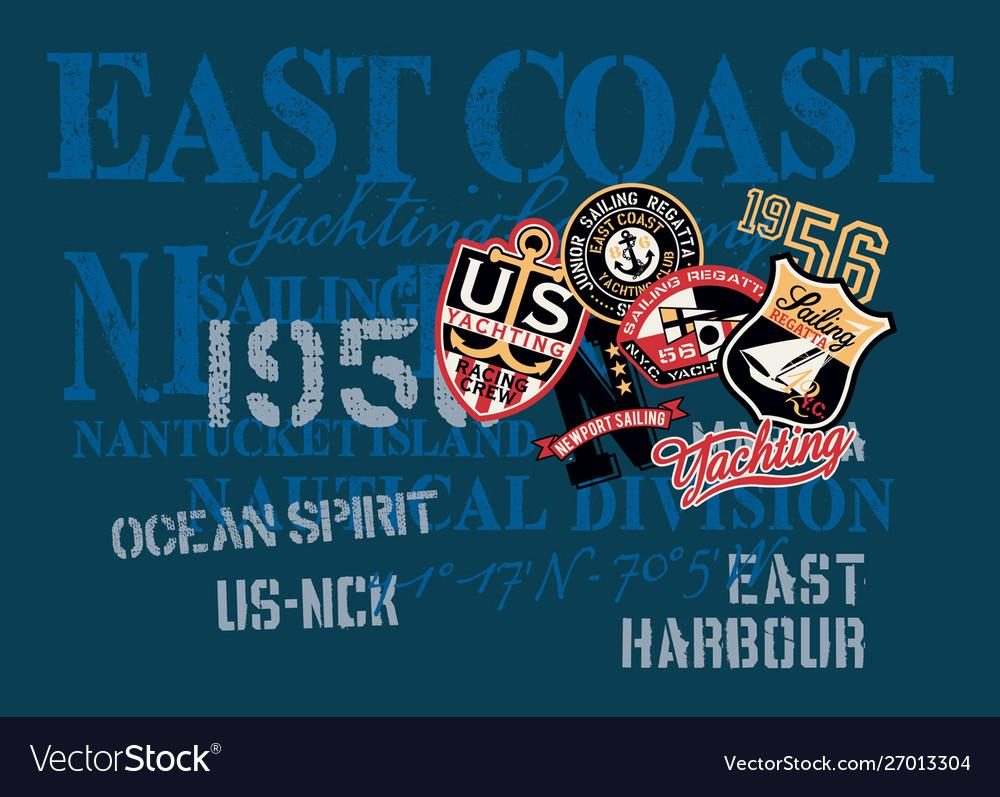East coast yachting company nautical shirt