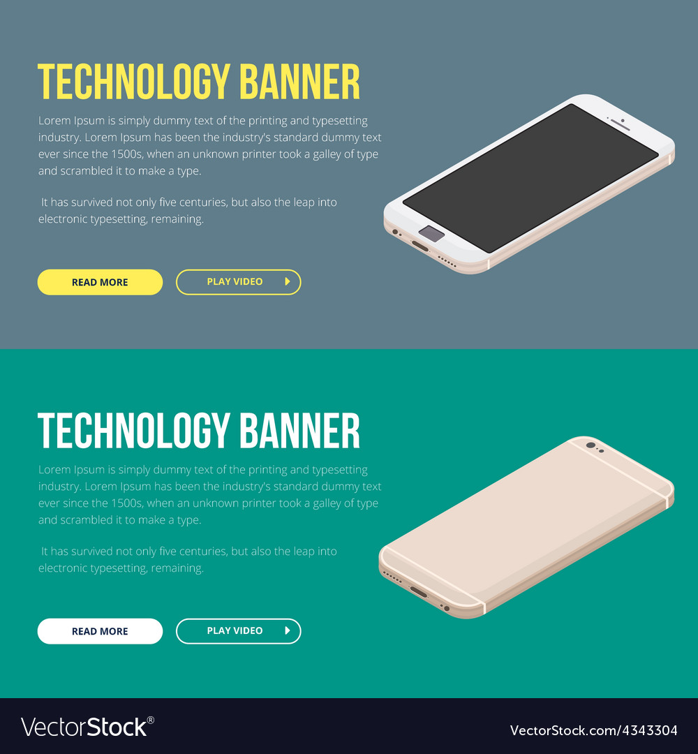 Modern banner with smartphone