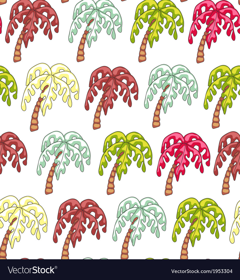 Palm Endless Seamless Pattern vector image