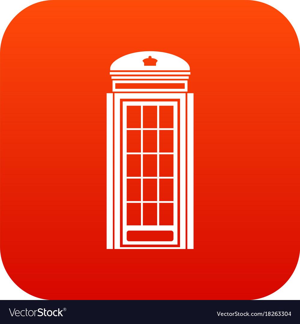 phone booth icon digital red royalty free vector image rh vectorstock com