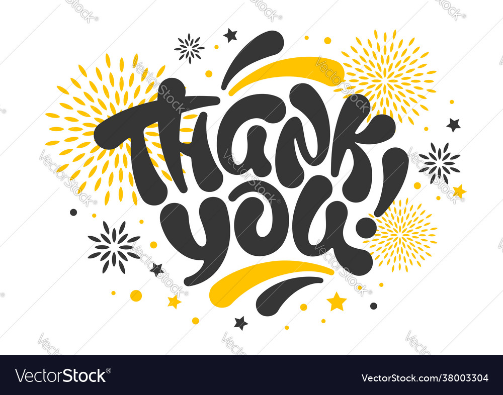 Thank you card with lettering