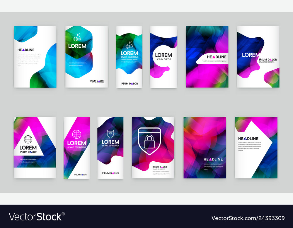 Abstract colorful liquid and fluid cover design