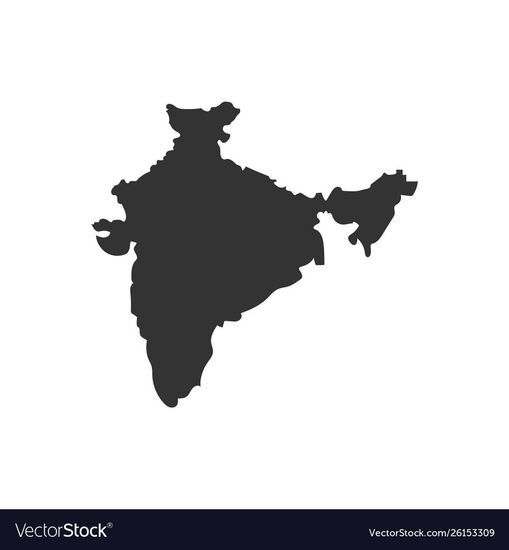 India map with shadow