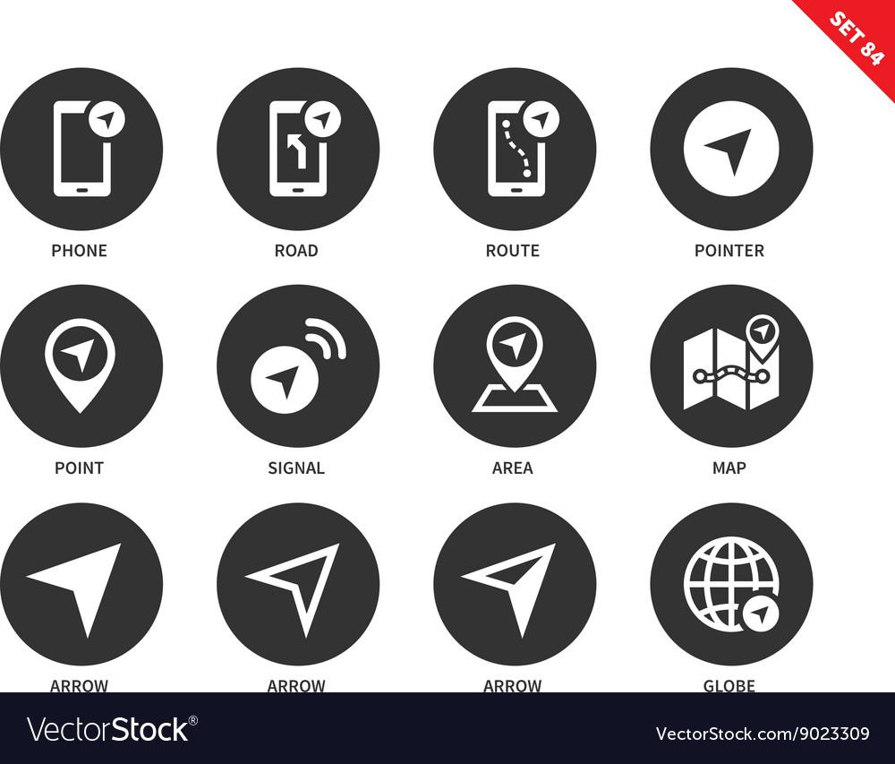 Navigator icons on white background