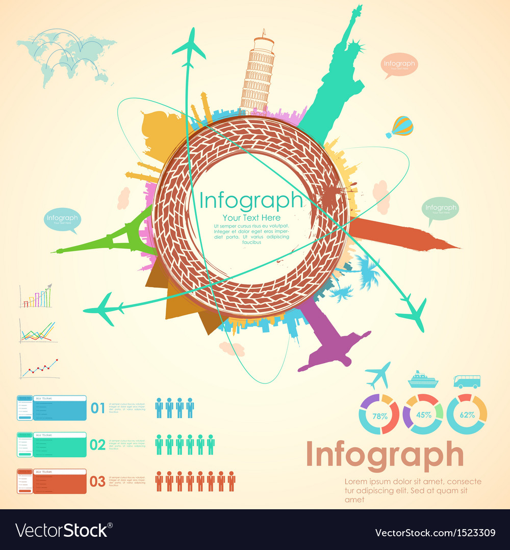 travel infographic chart royalty free vector image