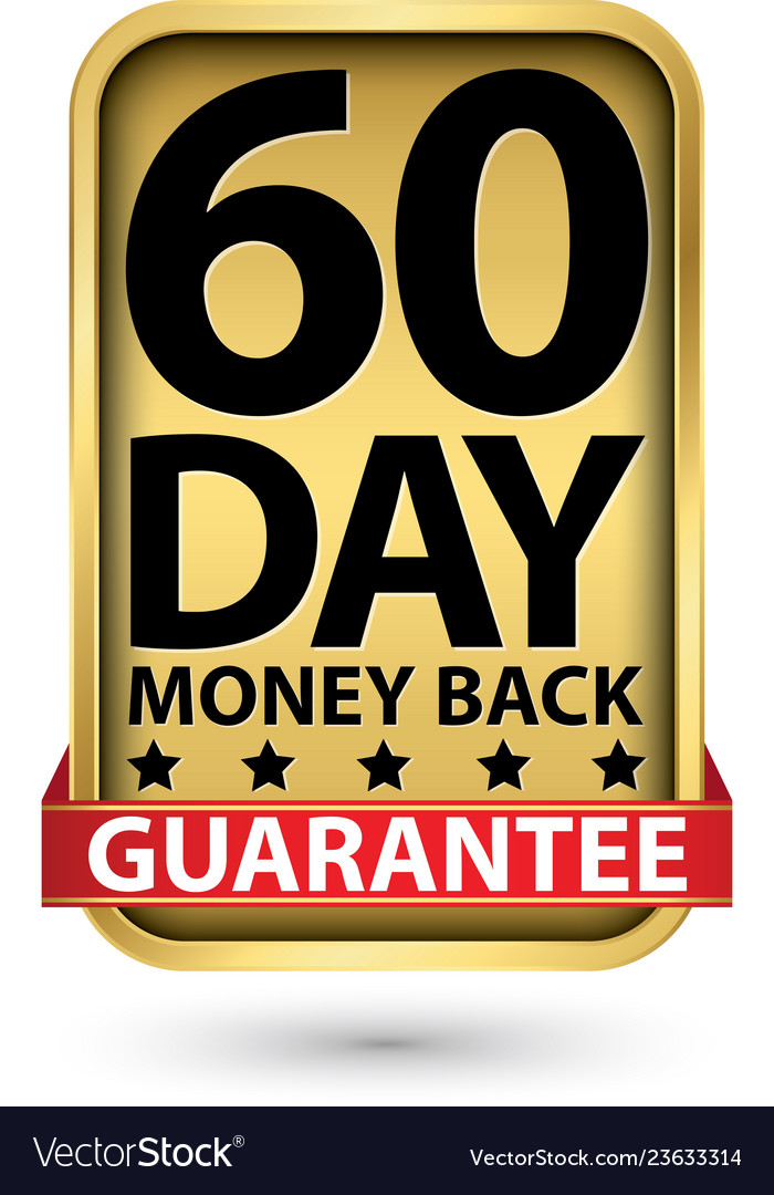 60 day money back guarantee golden sign