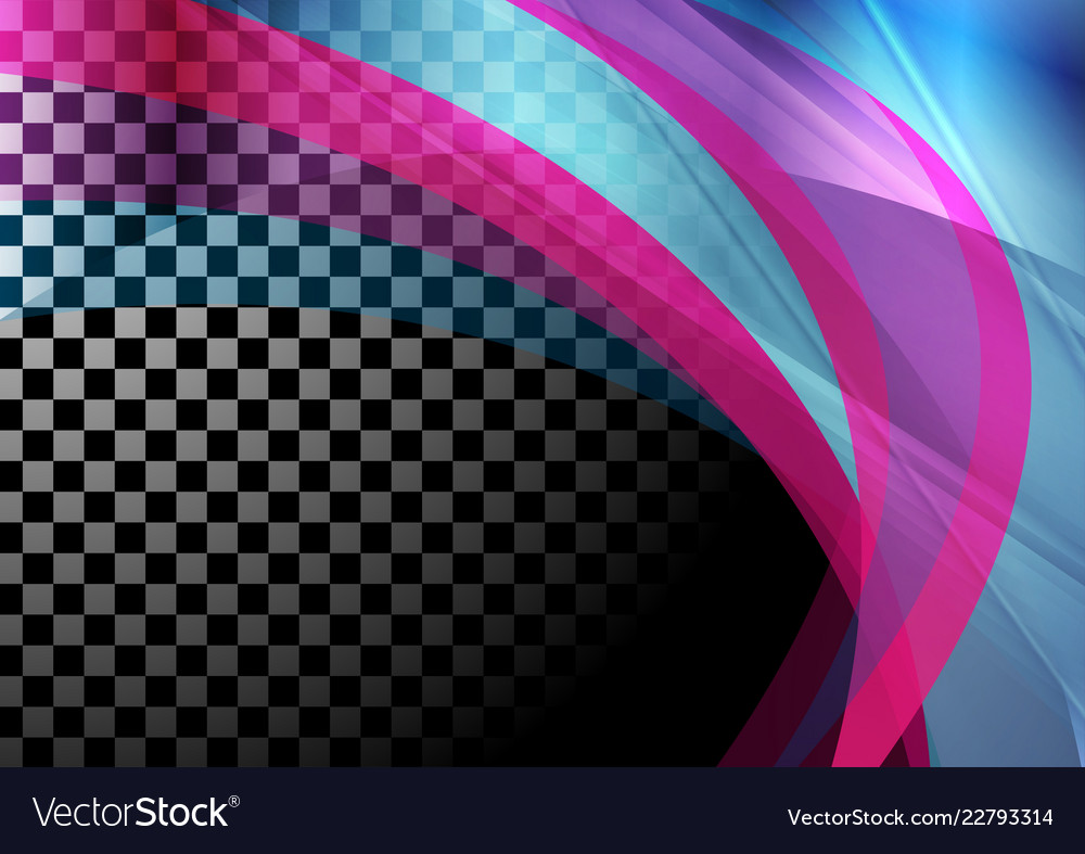 Colorful iridescent transparent waves abstract