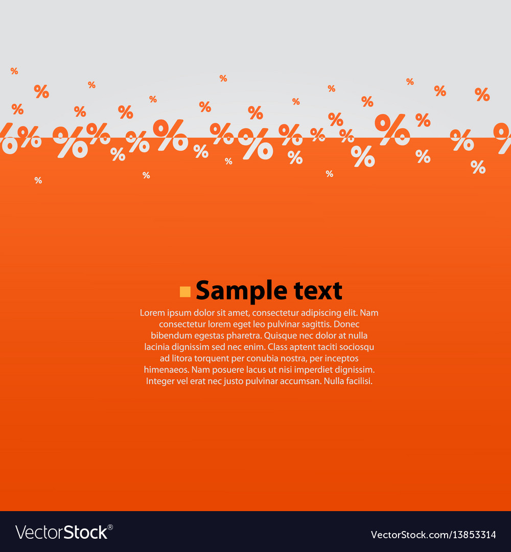 Creative abstract orange percent background