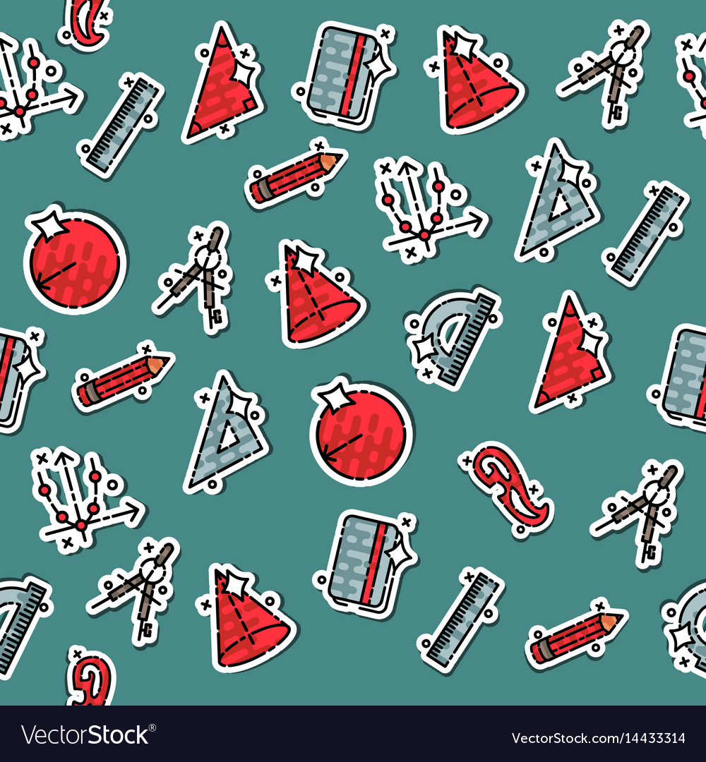 Geometry concept icons pattern vector image