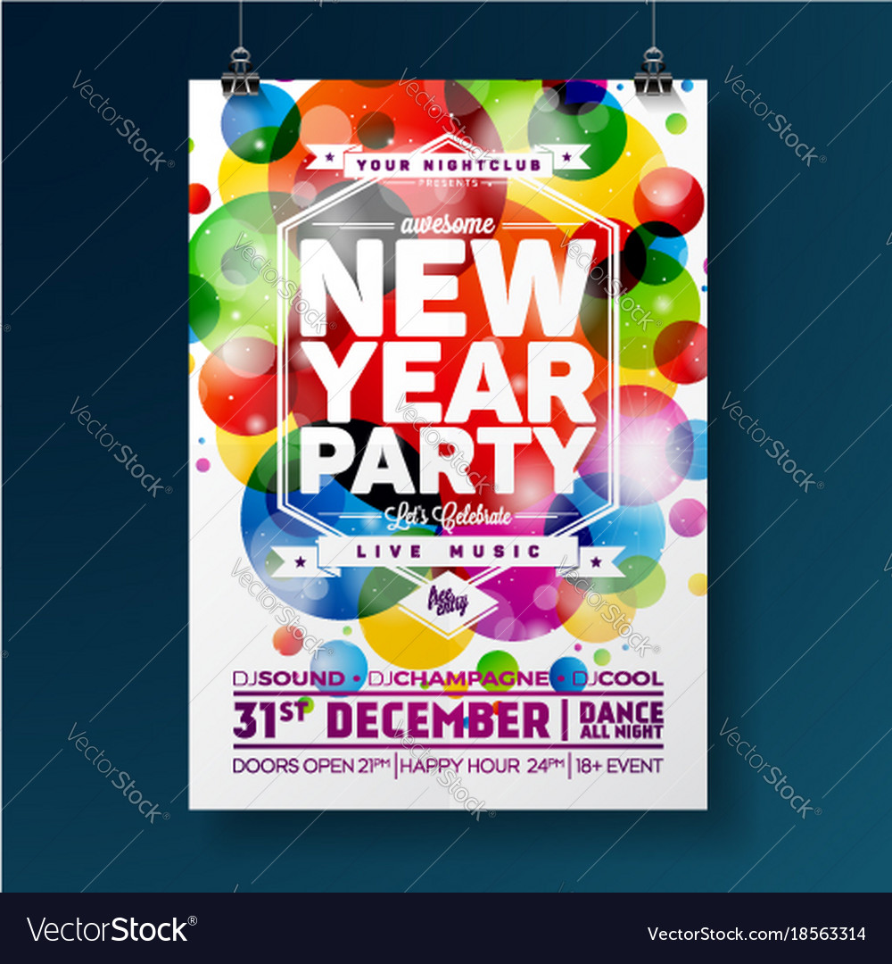 New year party celebration poster