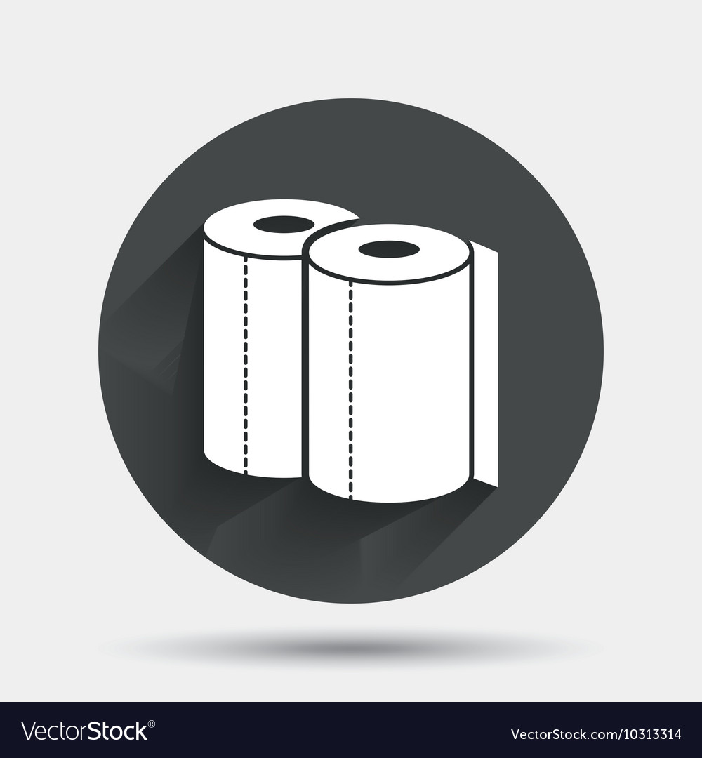 paper towels sign icon kitchen roll symbol vector image - Kitchen Roll