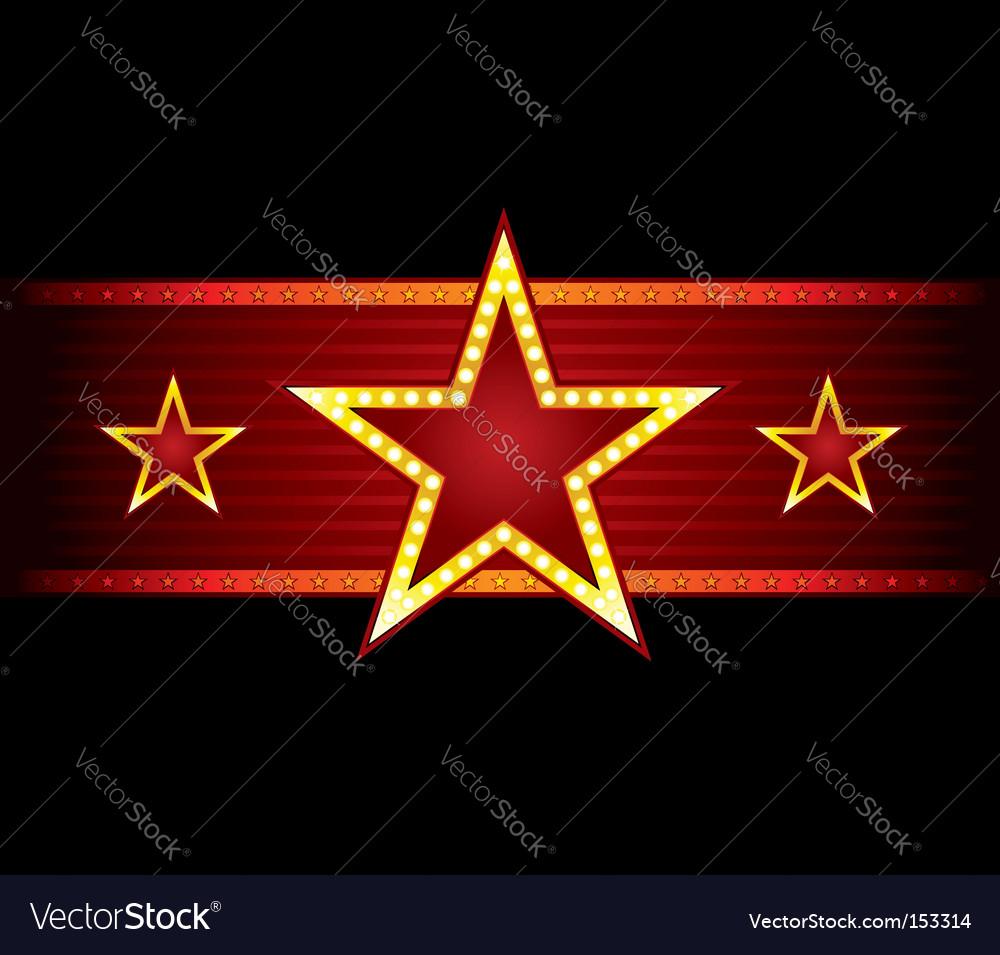 Star at seamless texture vector image
