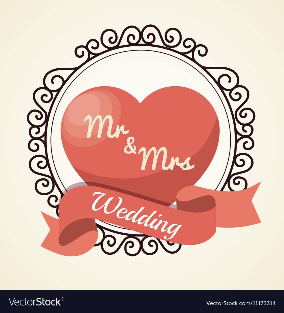 Wedding invitation card icon Royalty Free Vector Image
