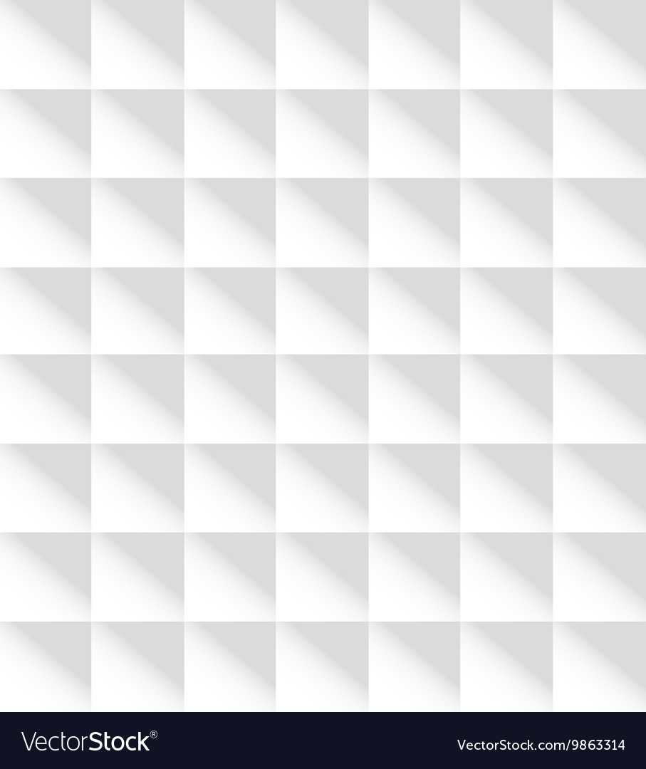 White Square Seamless Pattern Background Texture Vector Image