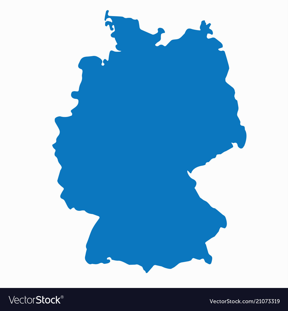 Pictures Of Germany Map.Blank Blue Similar Germany Map Isolated On White B
