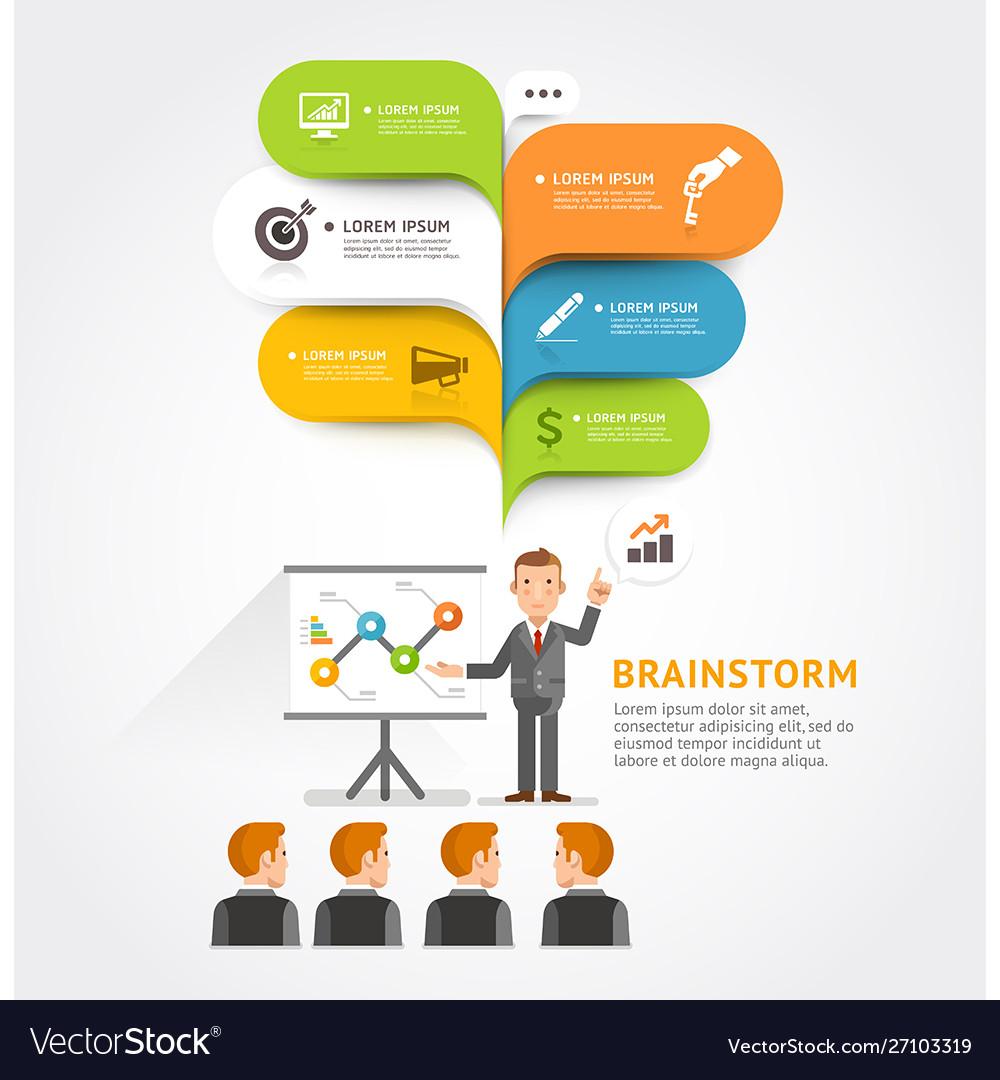 Business teamwork brainstorm with bubble speech