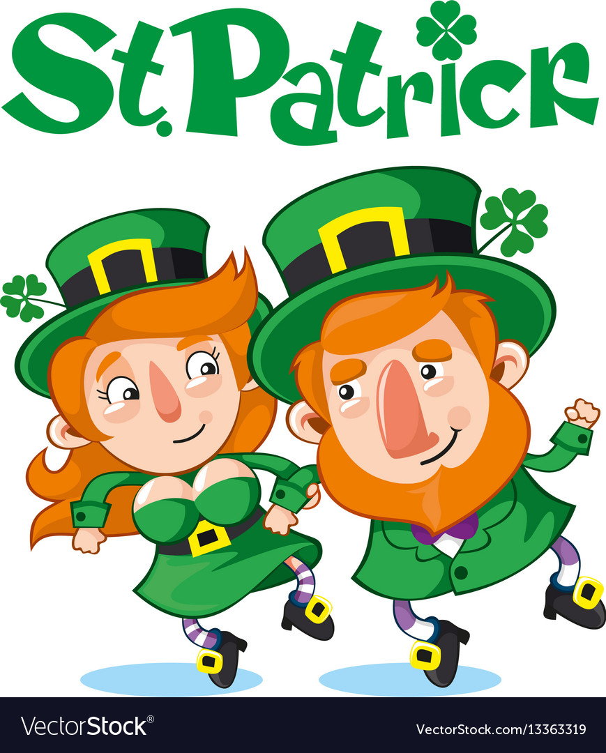 Cartoon celebrating saint patrick day concept