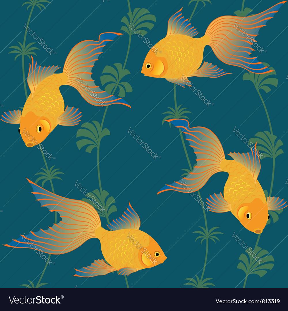 Gold fish seamless pattern