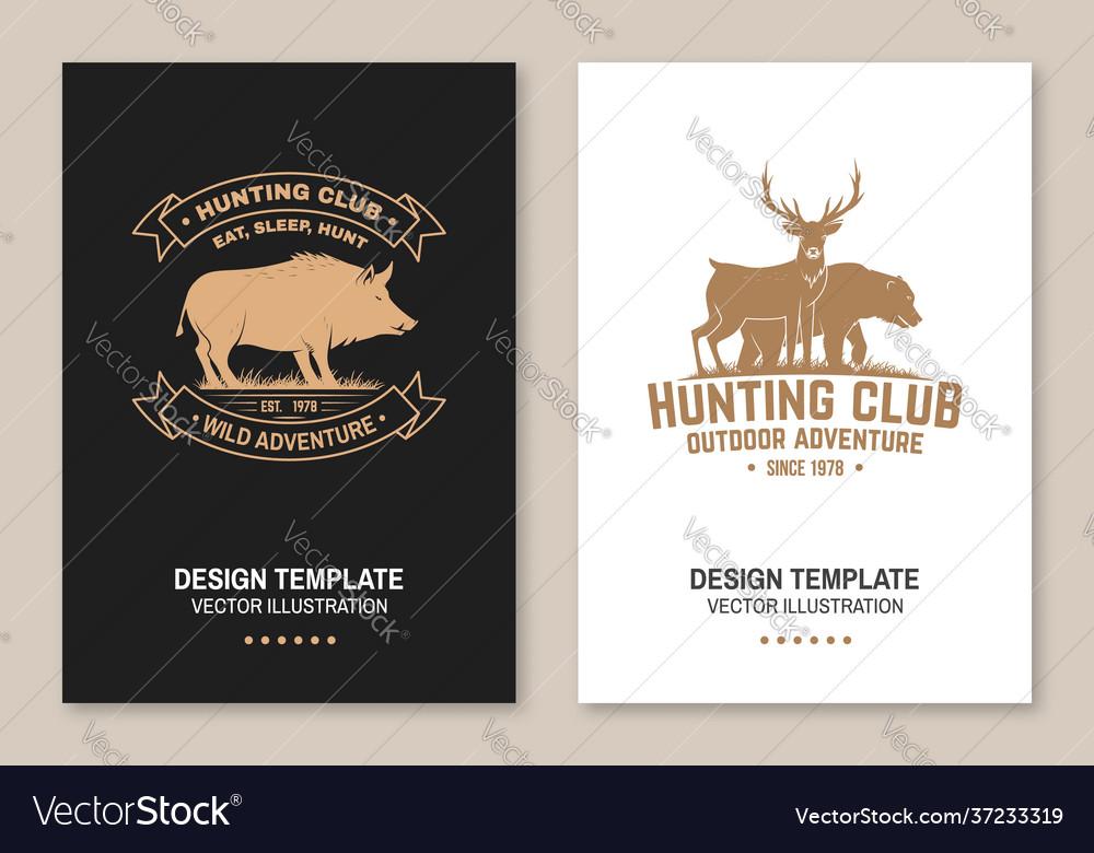 Hunting club badge eat sleep hunt