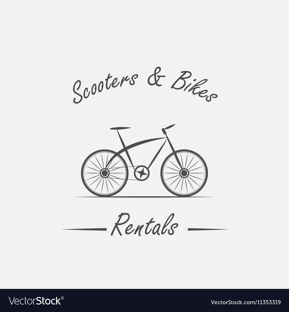 Rent sale - bicycles mopeds and scooters vector image