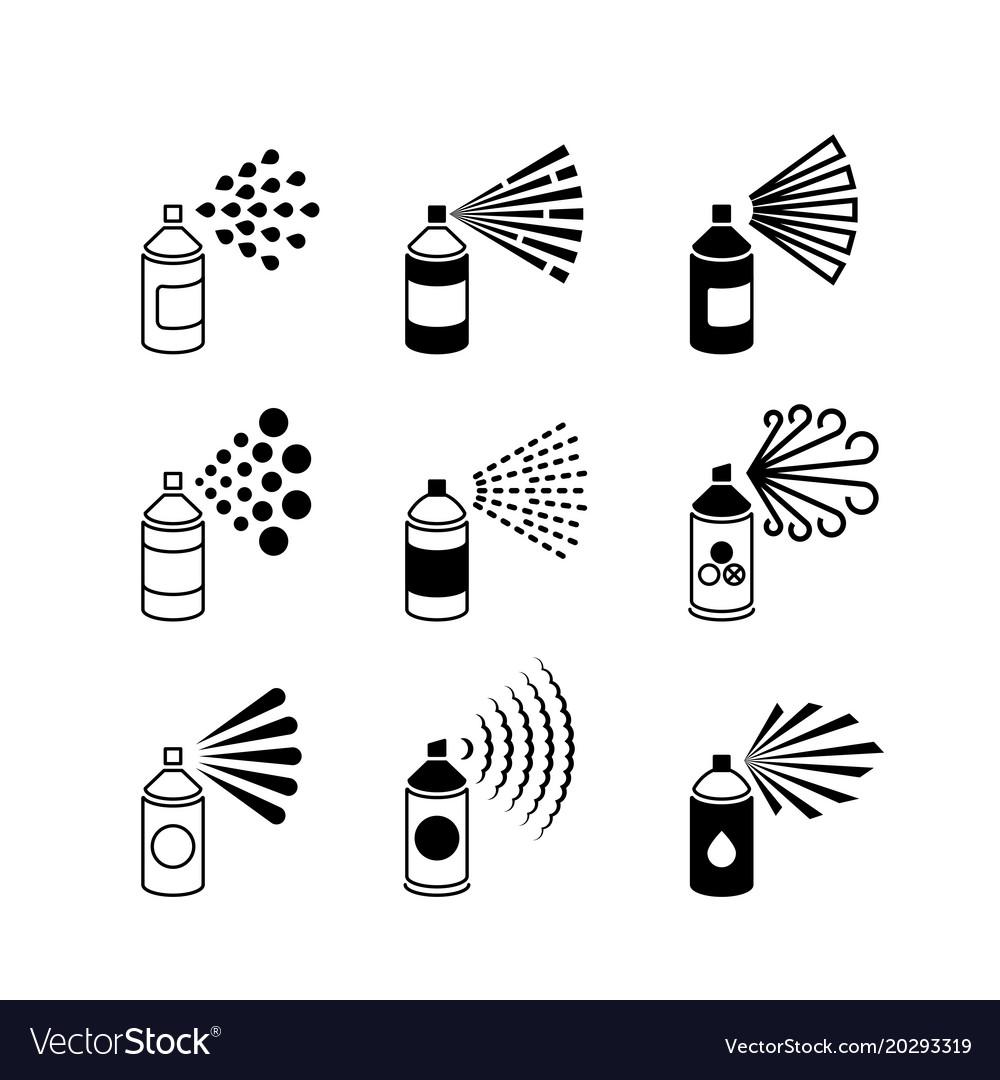 spray aerosol bottle graffiti can icons royalty free vector