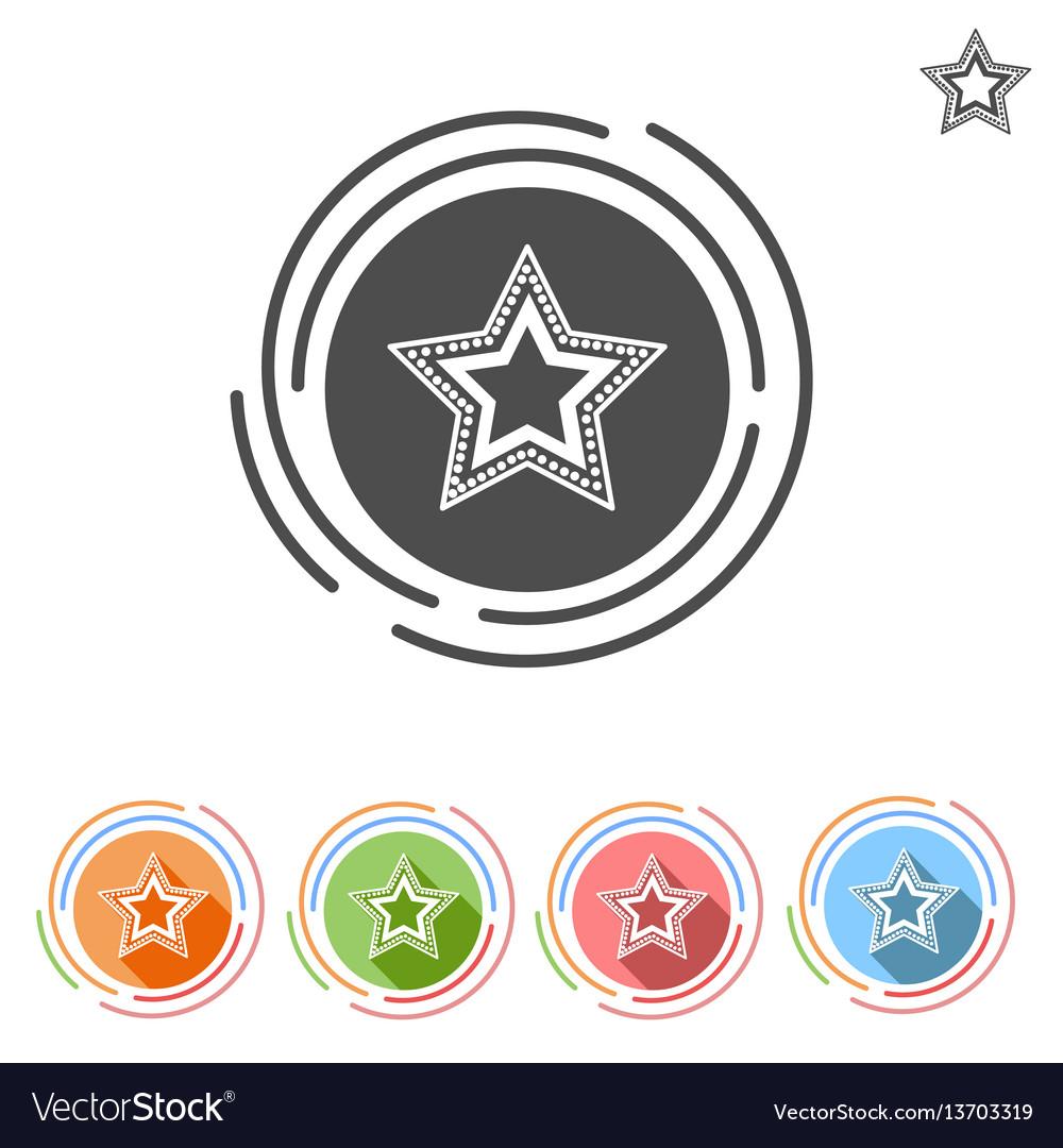 Star flat icon free