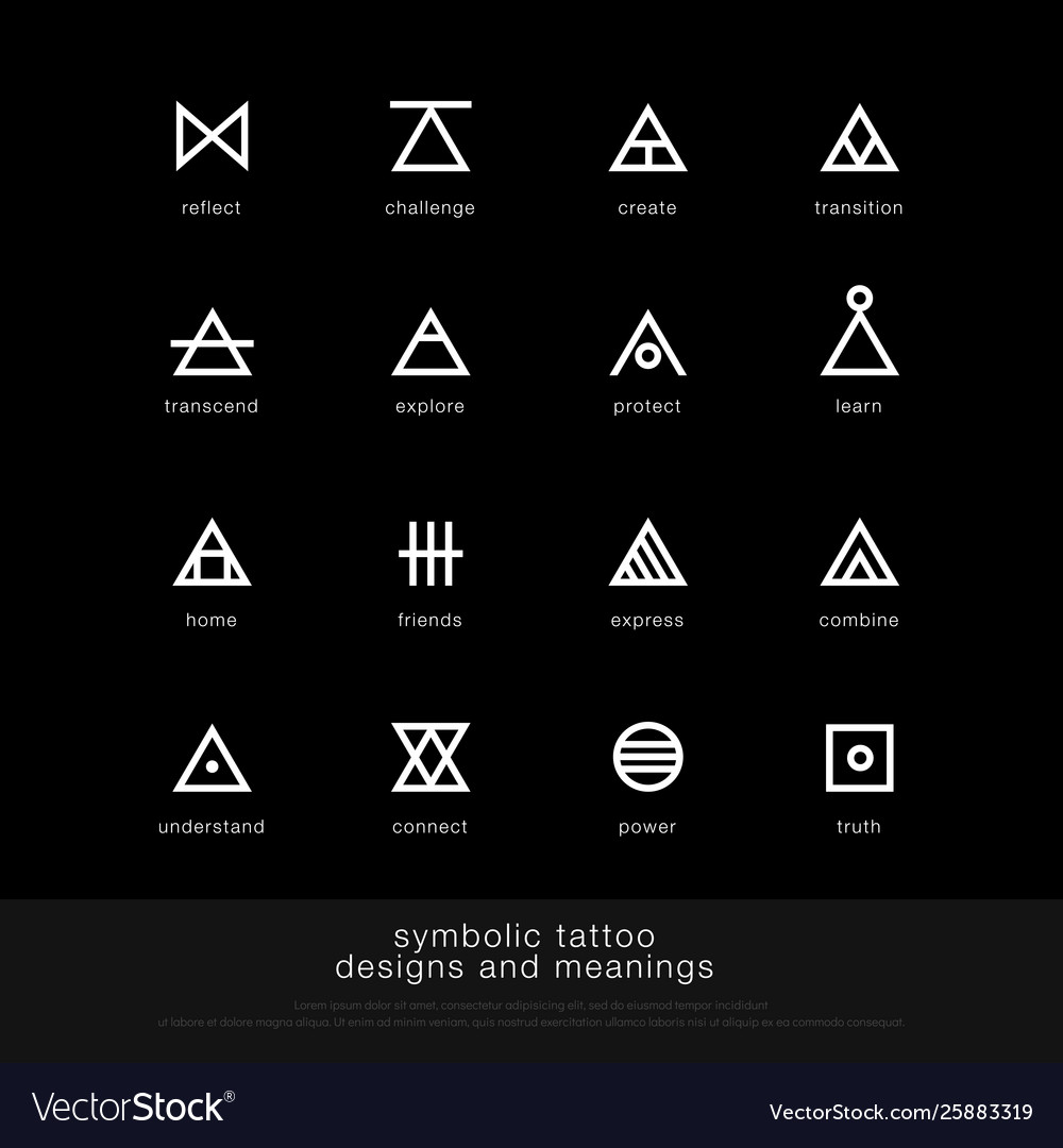 Symbolic tattoo design and meaning minimalist