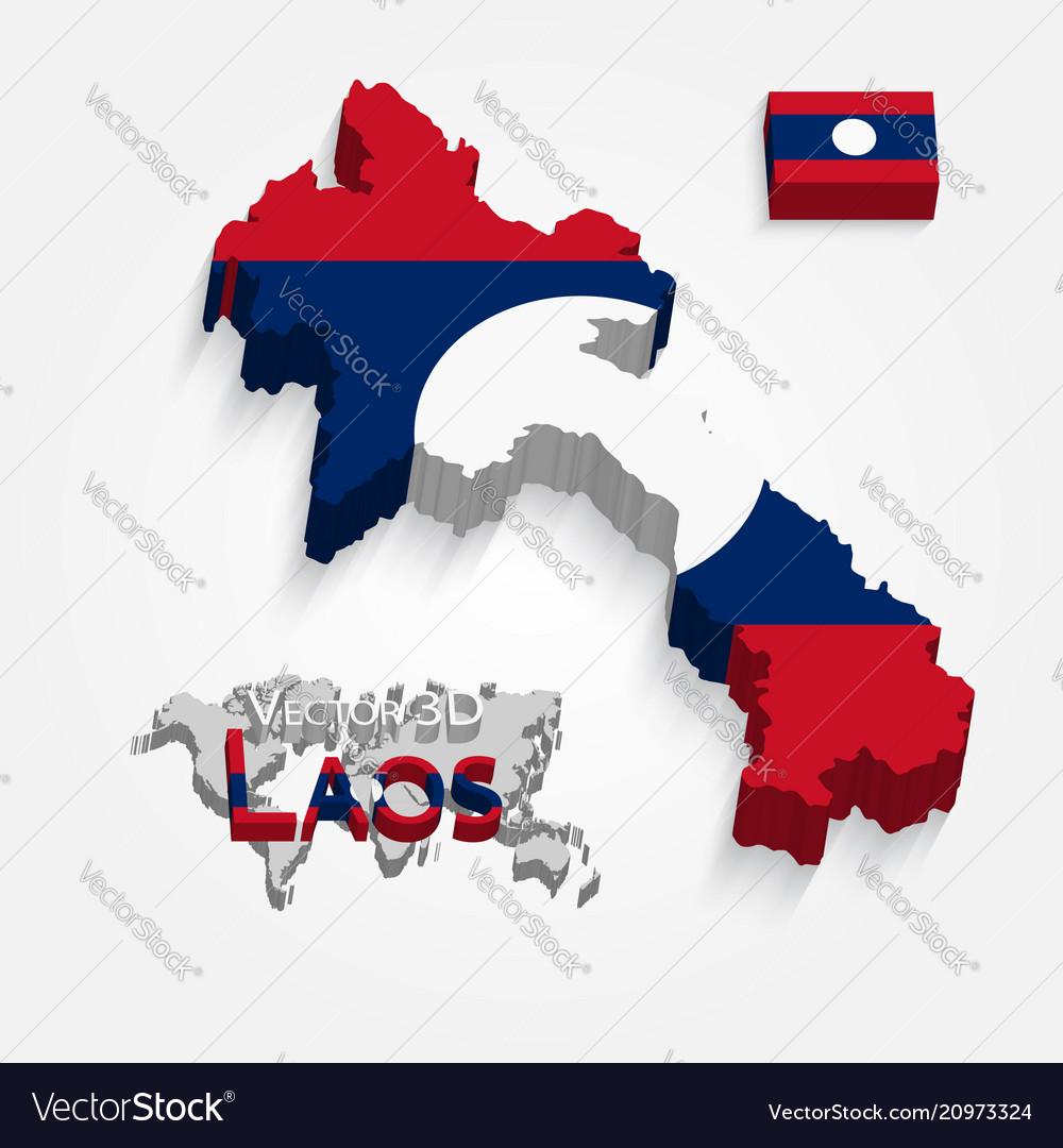 3d laos map