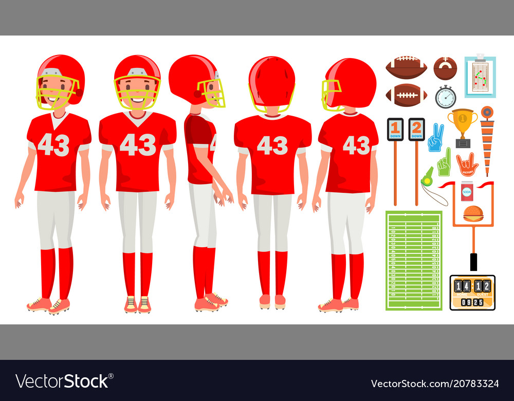 American football player male recreation