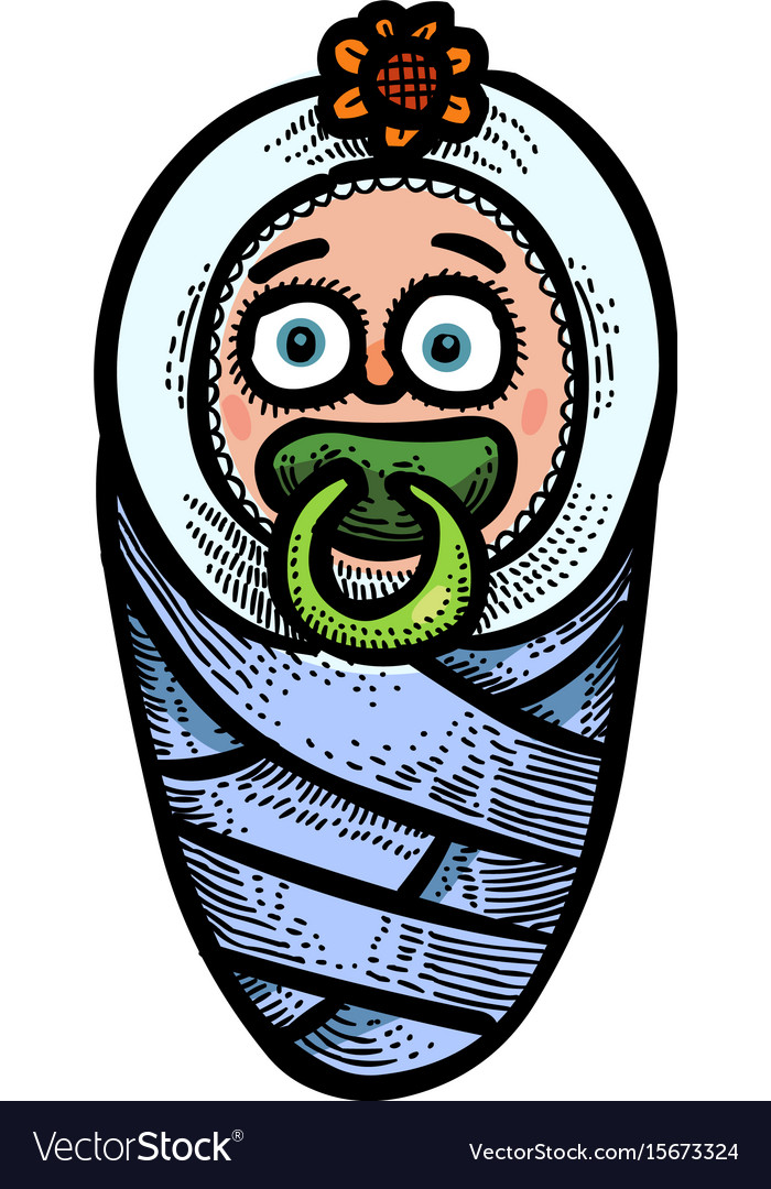 Cartoon image of baby icon child symbol