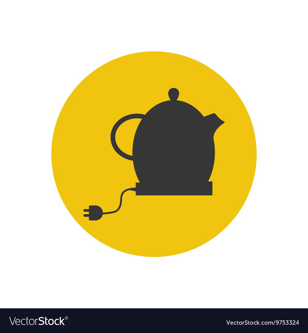 Electric kettle silhouette