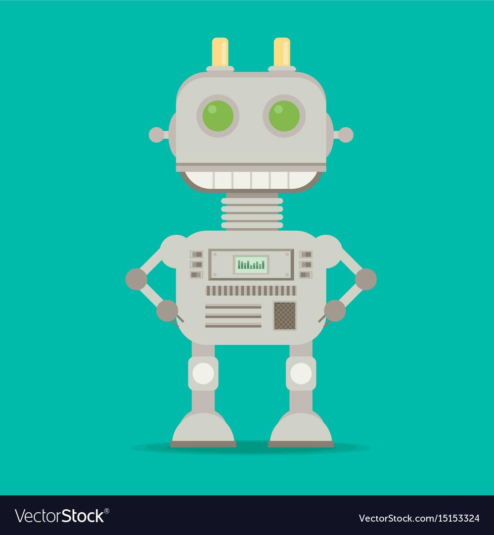 Funny flat robot
