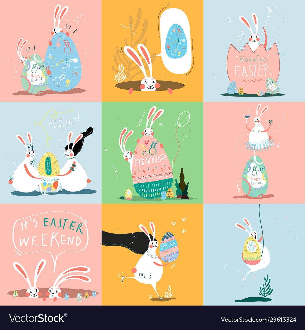 Happy easter day card design