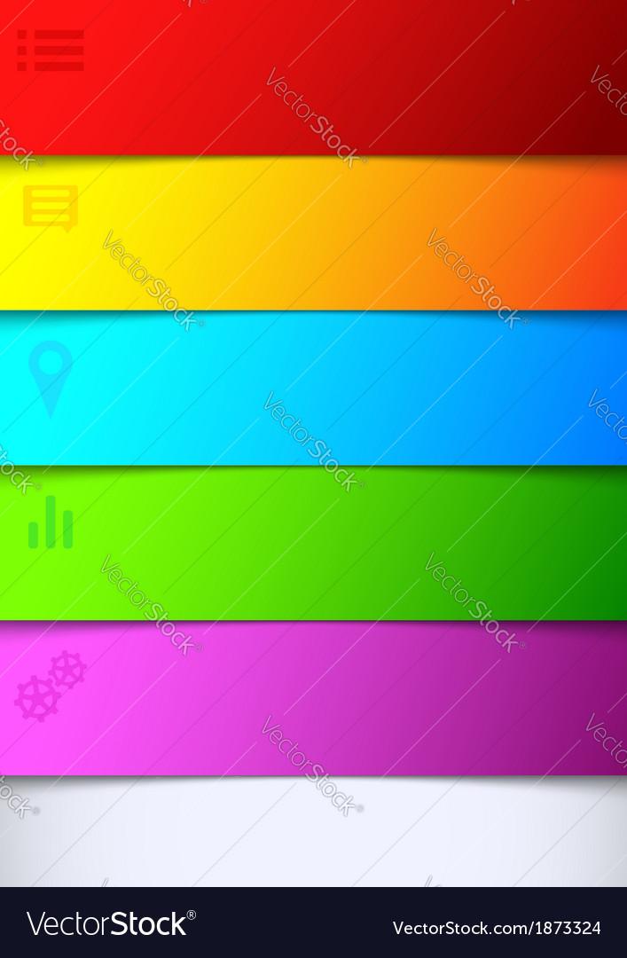 Infographics Bright Rainbow Background List Vector Image