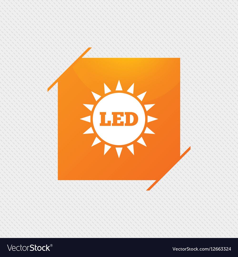 Led Light Sun Icon Energy Symbol Royalty Free Vector Image