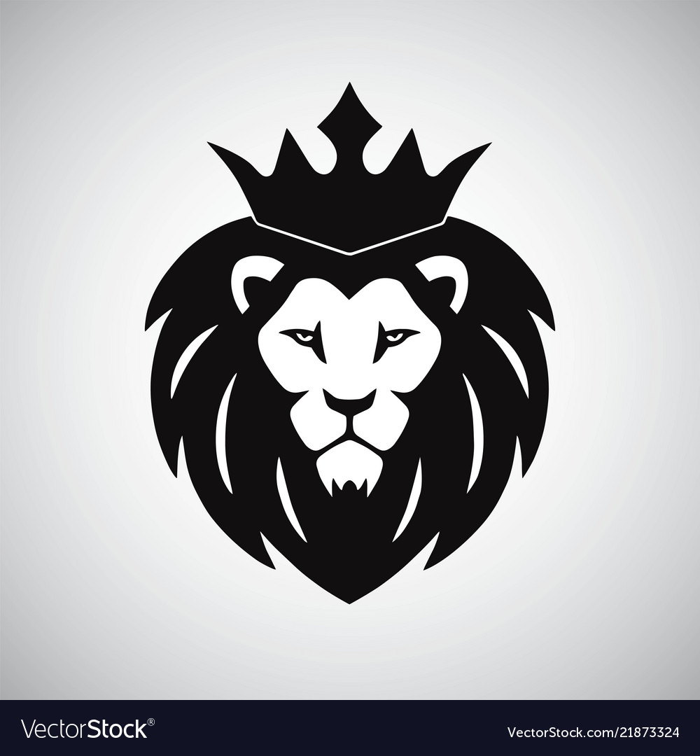 Lion King With Crown Logo Royalty Free Vector Image Cartoon lion wearing a crown royalty free vector image. vectorstock