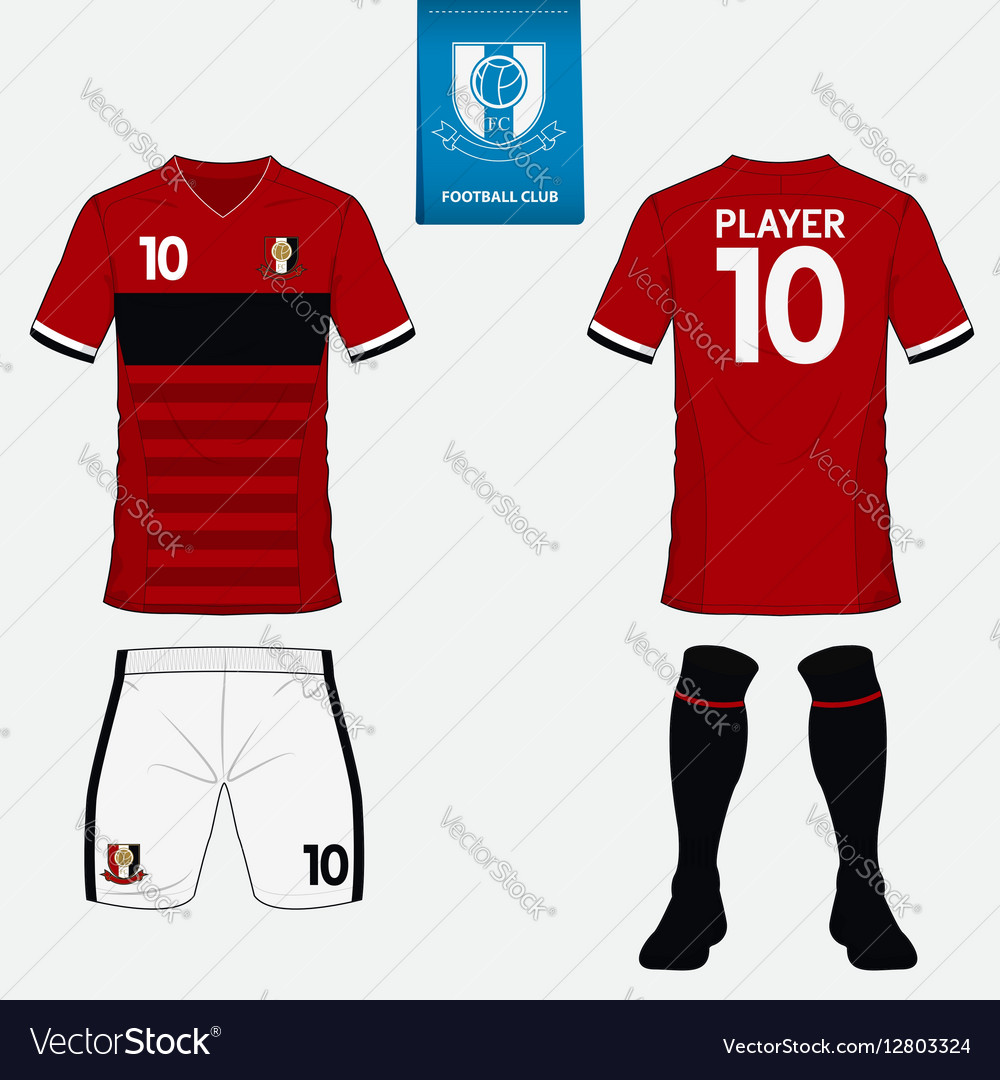 Set of soccer kit or football jersey template Vector Image eb596940b