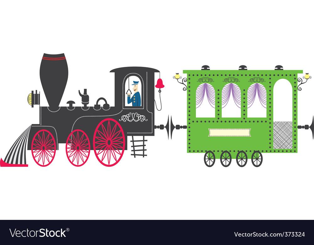 Train vector image