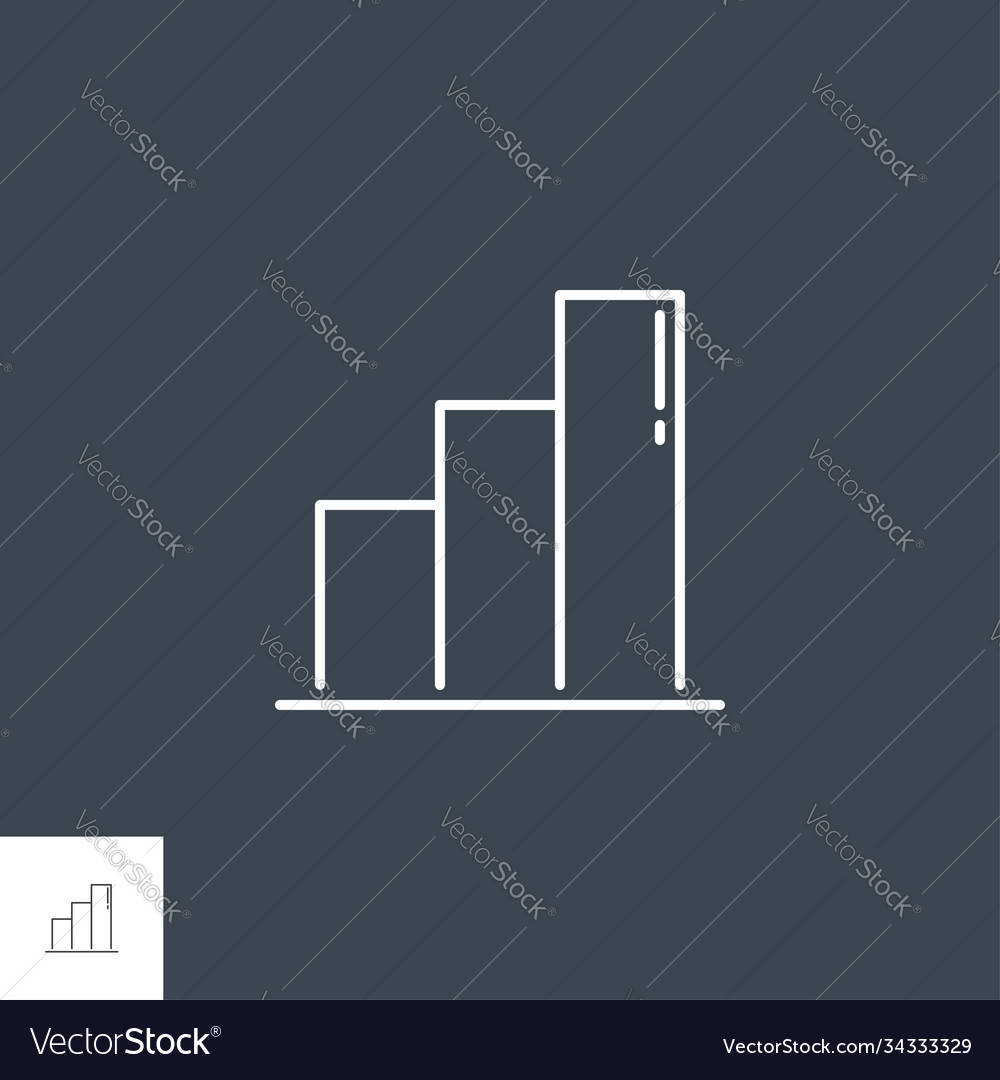 Bar chart related line icon