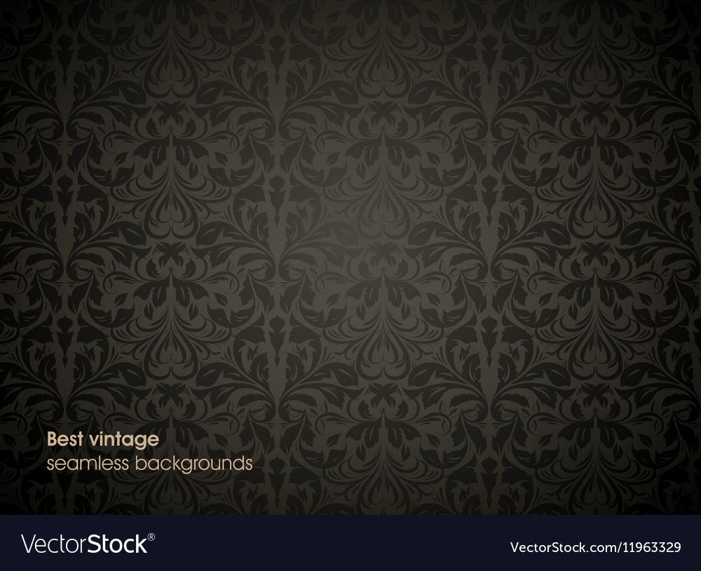 Black Floral Background