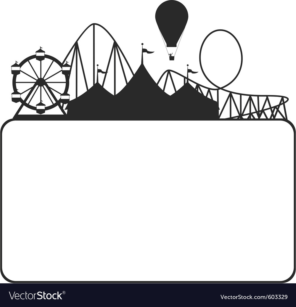 Carnival silhouette vector image