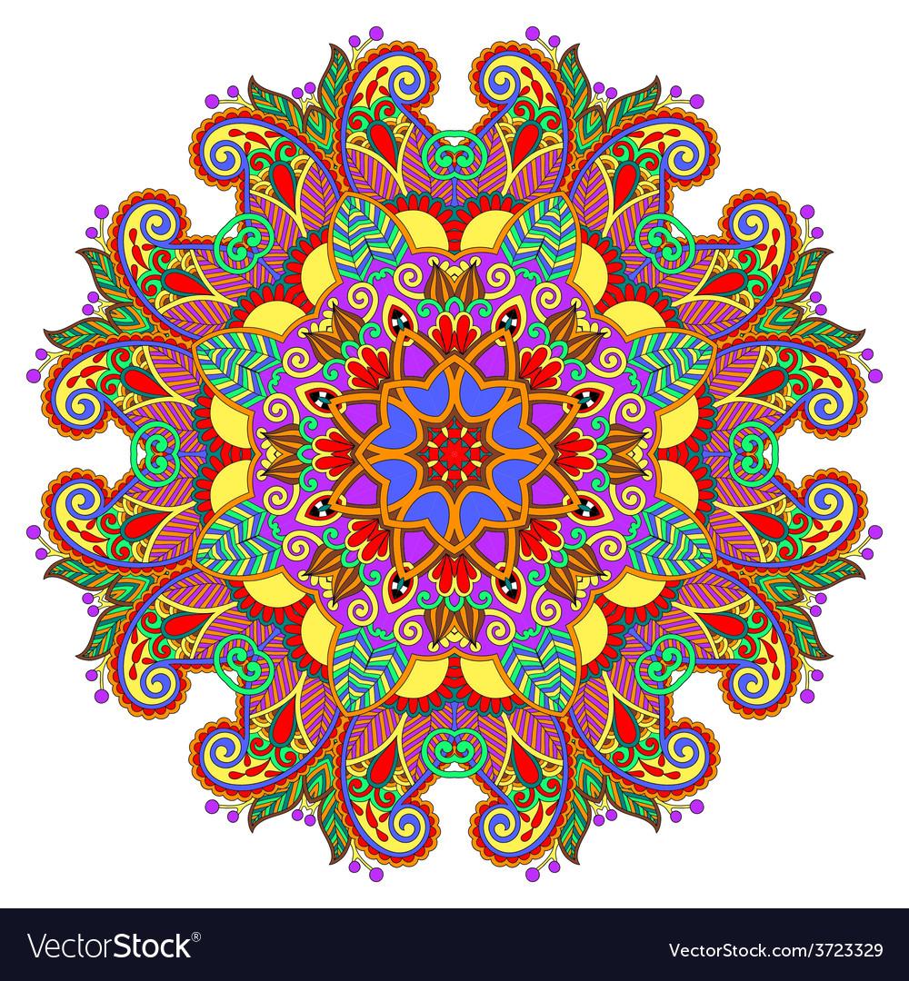 Decorative spiritual indian symbol of lotus flower decorative spiritual indian symbol of lotus flower vector image mightylinksfo