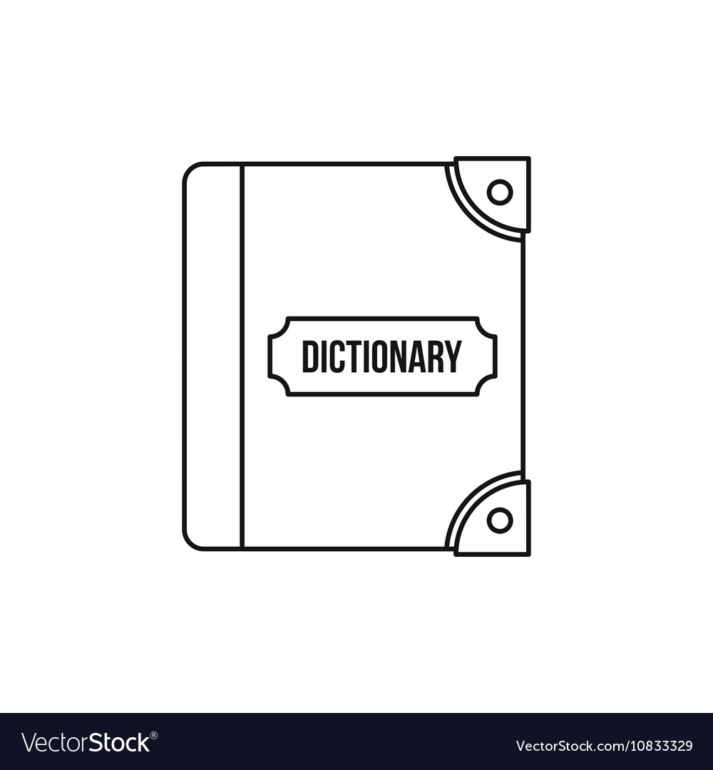 English dictionary icon outline style