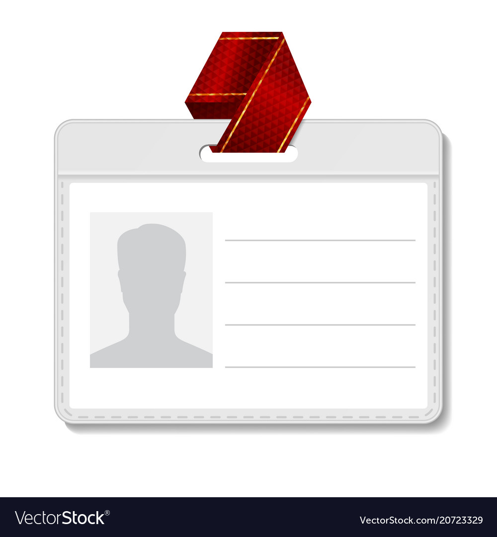 Identification Badge Id Card Blank Name Vector Image