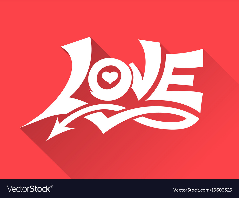 Love drawing 3d style vector image