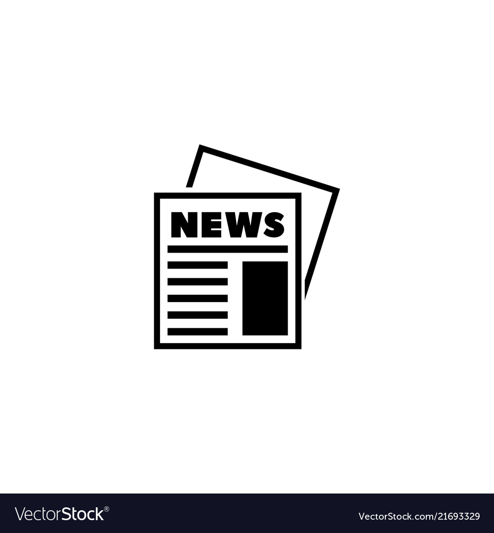 Newspaper news journal flat icon