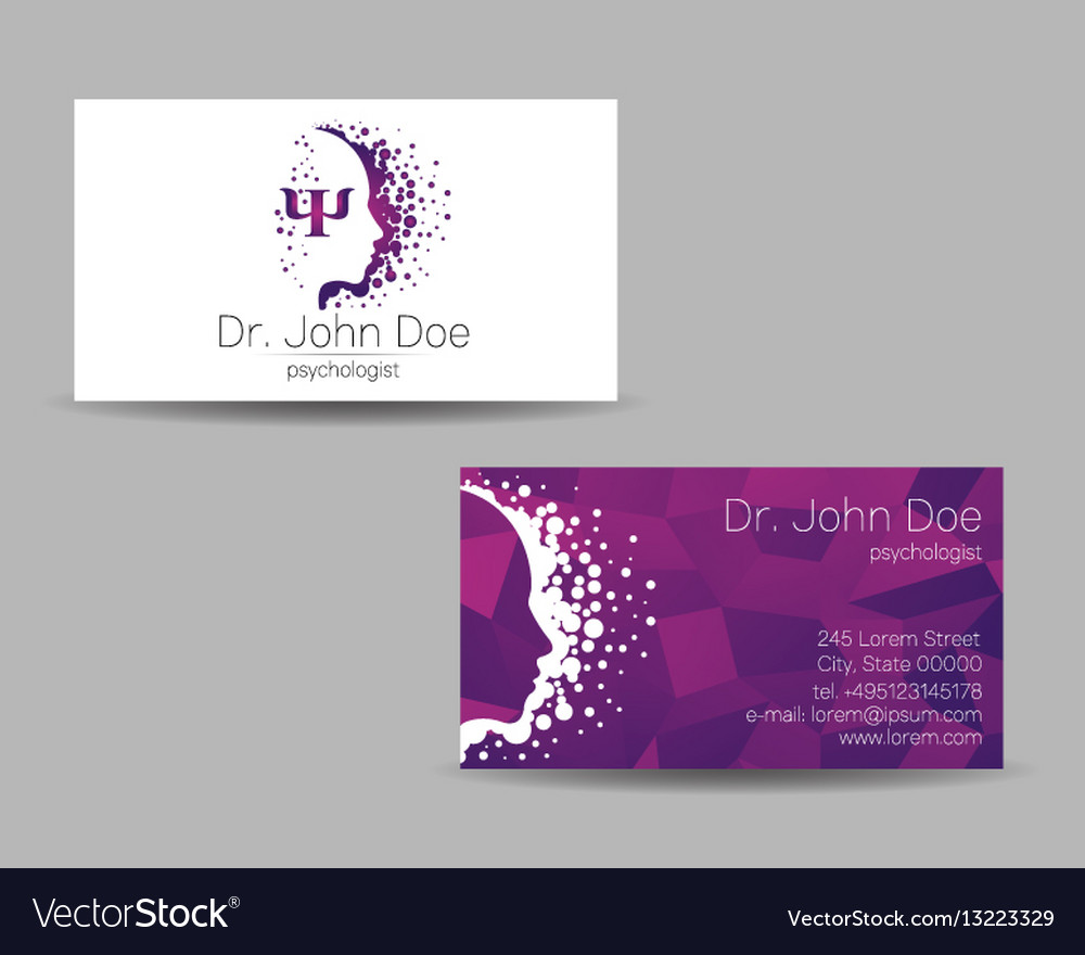 Psychology visit card modern sign Royalty Free Vector Image