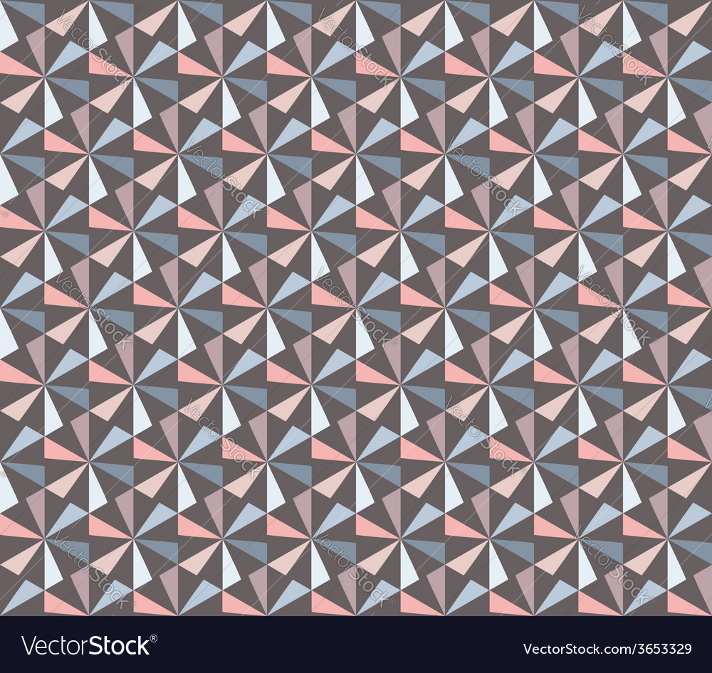 Seamless Geometric Retro Pattern vector image